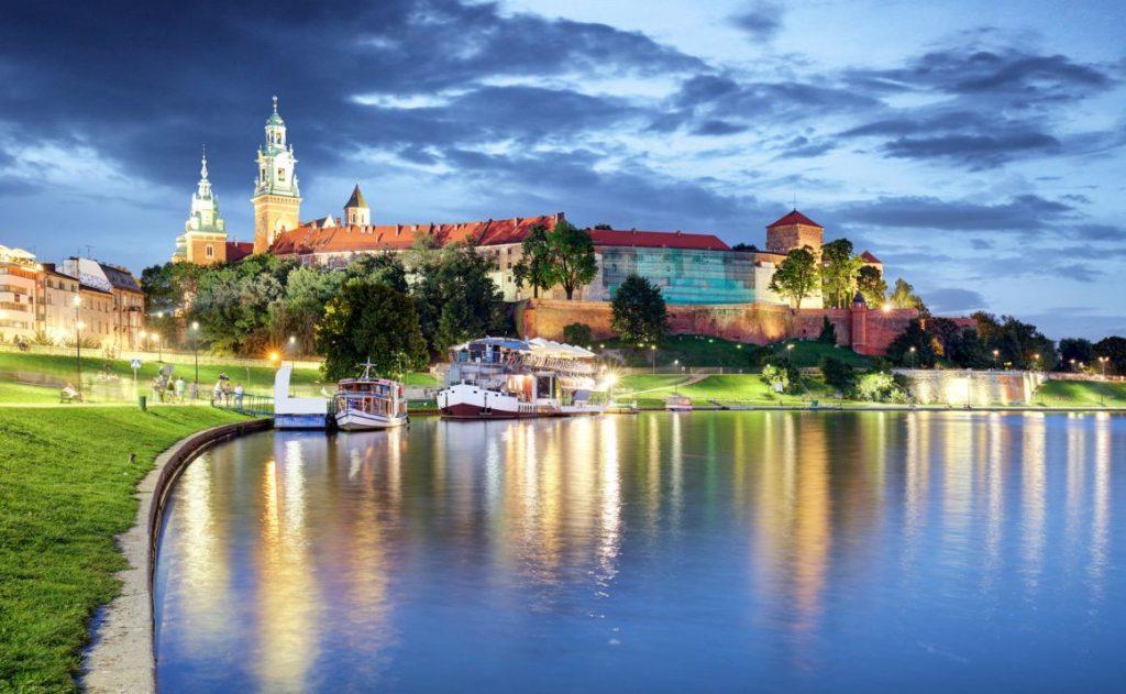 Krakó widok na Wawel